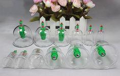 Вакуумные массажные банки однополярные 12 штук с насосом