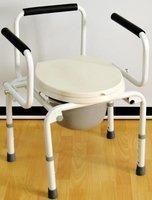 Кресло-туалет с санитарным оснащением Мега-Оптим PR8010 (FS813)