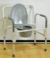 Кресло-стул с санитарным оснащением повышенной грузоподъемности Мега-Оптим PR7007L