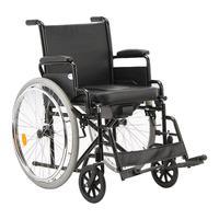 Кресло-коляска инвалидная с санитарным оснащением Армед Н011A