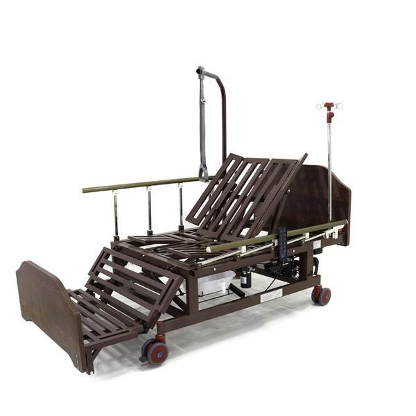 Кровать с электроприводом Belberg 11A-5228Н-10, Венге тёмный ложемент, 5 функц (без матраса)