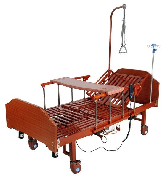 Кровать с электроприводом Belberg  3-5228H-01 (3-192ПН), 3 функции, с туалетным устройством, ЛДСП, + противопролежневый матрас
