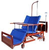 Кровать с механ.приводом Belberg 45A-152ПH, 5 функций, туалетное устройство, ЛДСП (противопролежневый  матрас + столик)