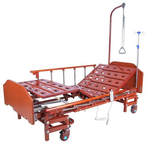 Кровать с электроприводом Belberg 6-166H, 3 функц. с ростоматом ЛДСП (без матраса+столик)