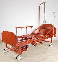 Кровать c механическим приводом Belberg 6-191Н, 4 функции, туалетное устройство, ЛДСП + матрас