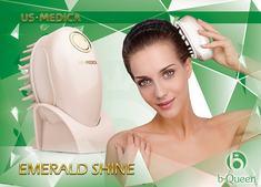 Прибор для массажа и мытья головы US MEDICA Emerald Shine