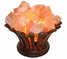 Солевая лампа абажур Корзина ВАЗА (домашний очаг 788) 2-2,5 кг