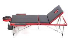 Массажный стол трёхсекционный алюминиевый Casada AL-3-16 BW (черно-красный) СМК-400