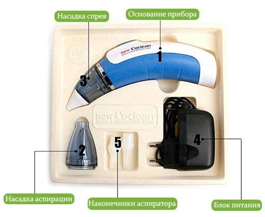 Электрический назальный спрей-аспиратор